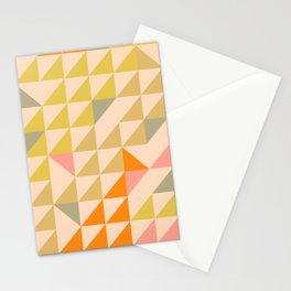 Mellow Triangles Stationery Cards