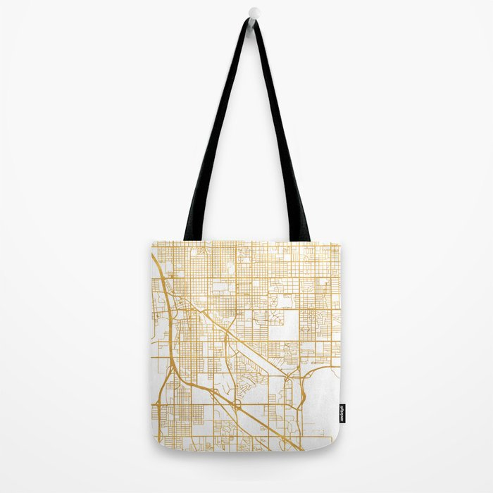 TUCSON ARIZONA CITY STREET MAP ART Tote Bag