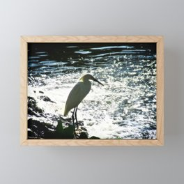 The Egret Framed Mini Art Print