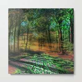 Abstract Forest 5 Metal Print