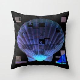 Cross Collage Prints Sea Shell Throw Pillow