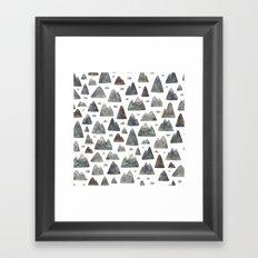 Little Mountain Range Framed Art Print