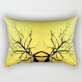 Yellow Tree Forest Antlers Rectangular Pillow