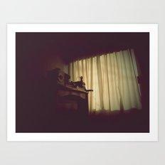 日ではなく、自宅で [At Home] Art Print