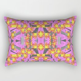 Flower Rockets Blast Rectangular Pillow
