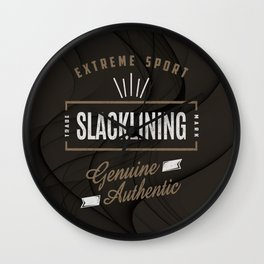 Slacklining Extreme Sport Wall Clock
