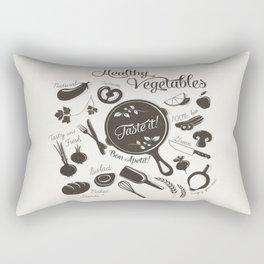 Health Vegetables Rectangular Pillow