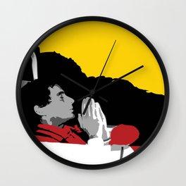 Against All Odds - Ayrton Senna Wall Clock