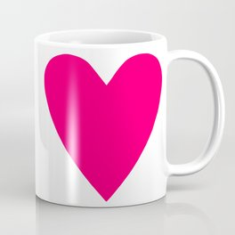 Neon Pink Heart Coffee Mug