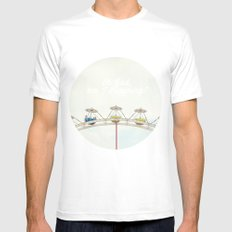 Oh God, am I dreaming? MEDIUM Mens Fitted Tee White