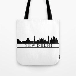 skyline new delhi Tote Bag