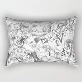 Man Vs Metal Rectangular Pillow
