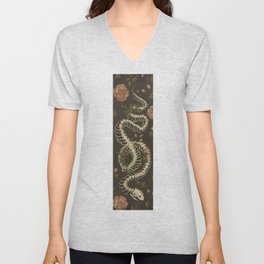 Snake Skeleton Unisex V-Neck