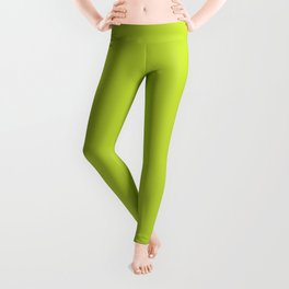 Lime Punch | Pantone Fashion Color Spring : Summer 2018 | New York and London | Solid Color | Leggings
