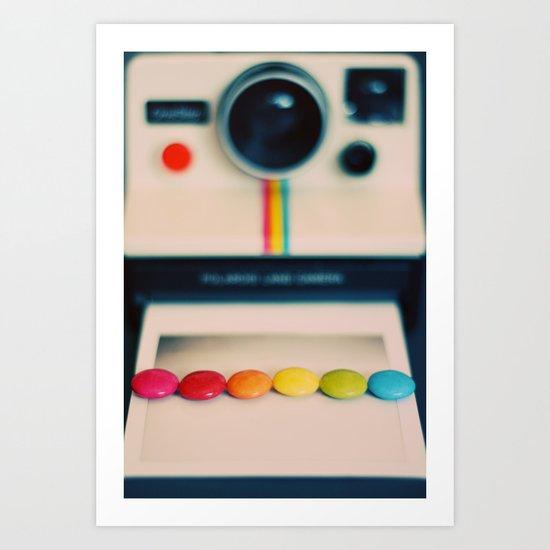 over the pola rainbow Art Print