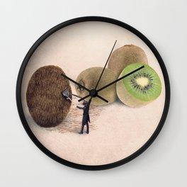 The kiwis hairdresser Wall Clock