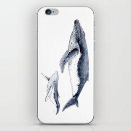 Humpback whale with calf iPhone Skin