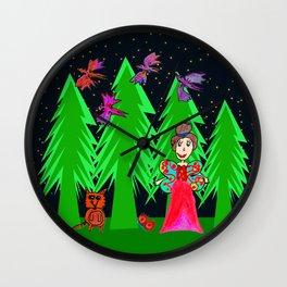 Night Fairy | Before Christmas | Kids Painting Wall Clock