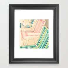 It's Summertime (vintage beach chairs) Framed Art Print