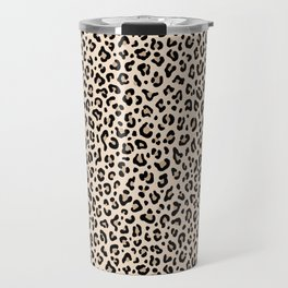 BLACK and WHITE LEOPARD PRINT – Ecru | Collection : Leopard spots – Punk Rock Animal Prints. Travel Mug