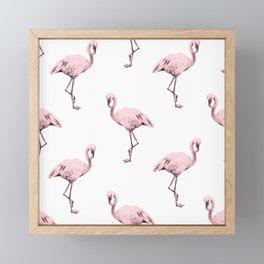 Simply Pink Flamingo in Pink Flamingo Framed Mini Art Print