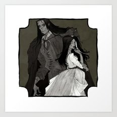 The Monster and His Bride Art Print