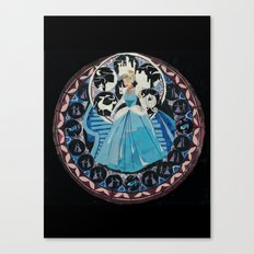 Paper fairytale window Canvas Print