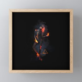 Fire Witch - Elements Collection Framed Mini Art Print