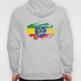 Ethiopia Flag Tee Shirt Hoody