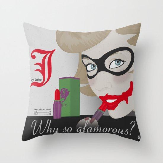 J by Joker Throw Pillow