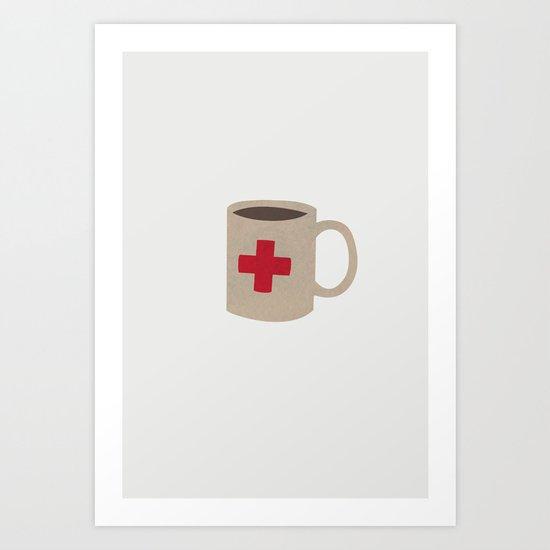 First aid Coffee Art Print