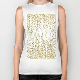 golden string of pearls watercolor Biker Tank