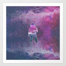Cosmic Spaceman Art Print