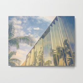 Beverly Hills - Palm Reflections Metal Print