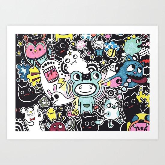 Adventure Remix Art Print