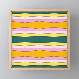 Colorful Striped Design Lines Framed Mini Art Print
