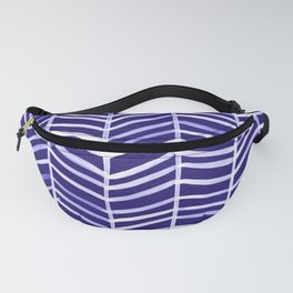 Herringbone – Navy & White Fanny Pack