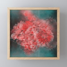 Abstract Red Flowers Framed Mini Art Print