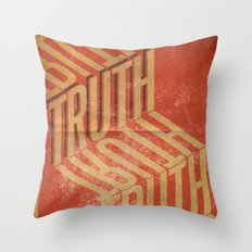 Finding Truth Throw Pillow