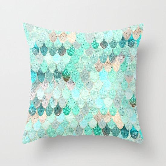 SUMMER MERMAID Throw Pillow