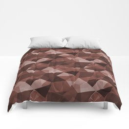 Abstract Geometrical Triangle Patterns 4 Dunn Edwards Spice of Life DET439 Comforters
