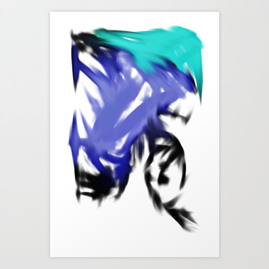 orgasmic girl  Art Print