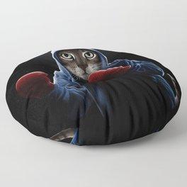 Boxing Cool Cat Floor Pillow