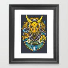 Golden Tricerapod Framed Art Print