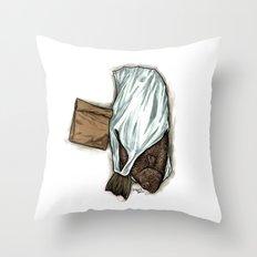 Flatfish and mushrooms. Throw Pillow