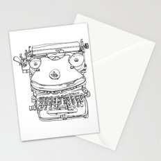 Typewriter Face Stationery Cards