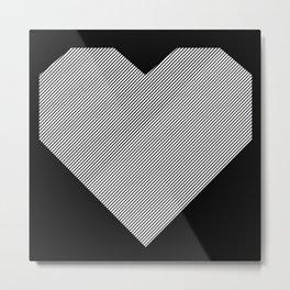 heart / black & white / Metal Print