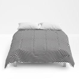 op art - circles Comforters