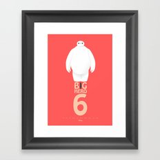 Big Hero 6 - minimal poster Framed Art Print