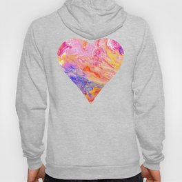 Pink and Yellow Abstract Hoody